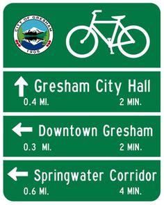 City of Gresham : City : Bicycle Map and Wayfinding Signs