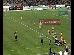 """Largest attendance at a Rugby Union match Often described as """"The Greatest Game of Rugby Ever Played"""", paying fans turned out at Stadium Australia, Sydney to see New Zealand beat the home side in July, Rugby Videos, Budget Travel, Travel Tips, Jonah Lomu, New Zealand Rugby, Kiwiana, All Blacks, Tuna, Top Rated"""