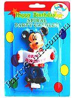 """Свеча для торта Микки Маус """"С днем рождения"""" #свечи_для_торта #украшение_торта #день_рождения #Cake_candles #cake_Decoration #яркие_свечи_для_торта #Birthday #свечи_для_детского_торта #mikki #микки-маус"""