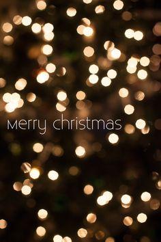 Merry Christmas, bokeh, Christmas lights