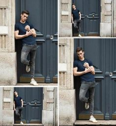 40 poses ideas to realize with a model man in urban environment . Photo Poses For Boy, Best Photo Poses, Picture Poses, Senior Photography Poses, Portrait Photography Poses, Male Models Poses, Male Poses, Poses Pour Photoshoot, Best Poses For Men