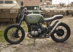 "BMW R100 Scrambler ""Kommandant"" by Powdermonkees #motorcycles #scrambler #motos   caferacerpasion.com"