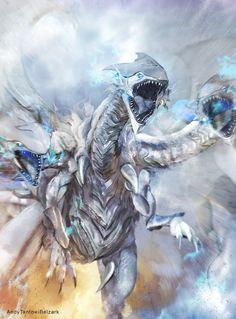 Dragon Blancos de ojos Azules