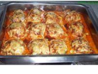 Überbackenes Putenschnitzel mit Hackfleisch und Champignons