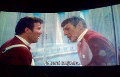 Star Trek la colère de Khan. L'adieu des deux amis.