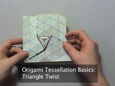 Origami Tessellation Basics: Triangle Twist