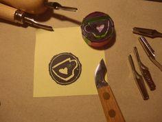handmade rubber stamp making, cuffee love :)