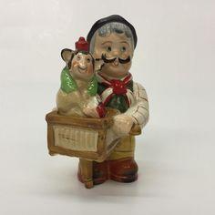 Organ Grinder Monkey Stacking Porcelain Salt or Pepper Shakers Shafford Japan | eBay