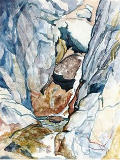The Athenaeum - Mountain Gorge with Waterfall (Giovanni Giacometti - )