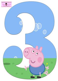 "Képtalálat a következőre: ""peppa pig numbers png"" Peppa E George, George Pig Party, Peppa Pig Pictures, Abc Birthday Parties, Peppa Big, Cumple Peppa Pig, Peppa Pig Birthday Cake, Pig Crafts, Computer Chip"