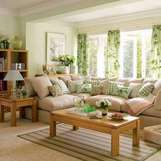 Our superbly stylish new Pale Green Living Room. Browse through images of Pale Green Living Room to create your perfect home. Green Rooms, Family Living Room Design, Trendy Living Rooms, Brown Living Room, Living Room Colors, Living Room Green, Family Living Rooms, Living Room Designs, Room Design