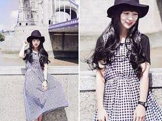 Image via We Heart It #asianfashion #clothes #dress #fashion #hat #koreafashion #koreanfashion #model #outfit #style #stylish #ulzzang #kfashion #asiafashion #cute #parkseul #kfashion
