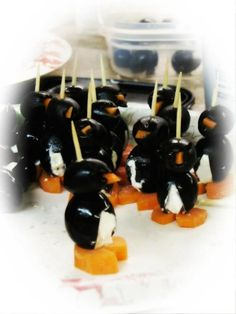 Penguin appetizers good for baby shower