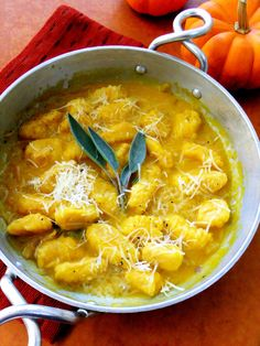 Butternut Squash Gnocchi  with butter sage sauce.......half cup butter, 8 fresh sage leaves, 1/4 c toasted walnuts, salt and pepper to taste....half cup cream to thin or pasta water........