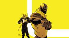 Wallpaper: http://desktoppapers.co/ay42-ironfist-marvel-yellow-hero-illustration-art/ via http://DesktopPapers.co : ay42-ironfist-marvel-yellow-hero-illustration-art
