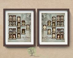Display your family pedigrees in rustic style! Our unique and beautiful pedigree charts, are personalized with 4 generations (each) of names, dates and photos. You may further customize with your choice of 9 background styles and two font choices *. A unique way to display the lineage of spouses! A great gift for weddings, anniversaries, housewarmings or the perfect anytime gift for the genealogy buff.  • Product Details: Two individual pedigree charts are professionally printed on quality…