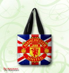 "Manchester United Logo Football Club Custom Tote Bag (one side)  A great every day bag to take you through your day!  Product Details Size: 12.2"" x 11"" x 3.3"" This 100% heavyweight 10 oz cotton canvas"