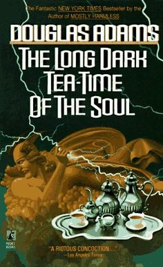 The Long Dark Tea Time of the Soul by Douglas Adams. If you've never read anything by Douglas Adams stop what you are doing right now and go get one. He is absolutely amazing :) I Love Books, Great Books, Books To Read, My Books, Dirk Gently Books, The Long Dark, Holistic Detective Agency, Books Everyone Should Read, Guide To The Galaxy