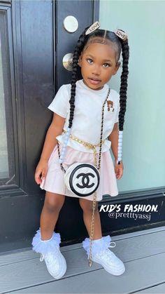 Cute Mixed Babies, Cute Black Babies, Beautiful Black Babies, Lil Girl Hairstyles, Black Kids Hairstyles, Cute Little Girls Outfits, Kids Outfits Girls, Black Baby Girls, Cute Baby Girl