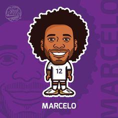 Marcelo #marcelo #nike #football #cartoon #comic #brasil #selecao #real #madrid #realmadrid #vector #illustration #art #tommillerart #tommillerdesign
