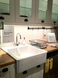 IKEA Apron Sink | Ikea Kitchen Tour - Apron sink - desire!