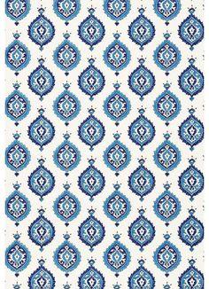 Martyn Lawrence Bullard for Schumacher Wallpaper Taj Trellis in Jaipur Blue Peacock Wallpaper, Wallpaper Roll, Pattern Wallpaper, Print Wallpaper, Pattern Art, Pattern Design, Print Design, Peacock Pattern, Islamic Art