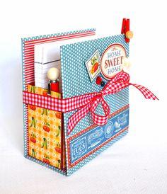 Scrapbook e Tal: PAP de caixa com papéis Home Sweet Home - DT Jaluza
