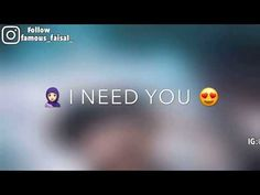 Girl I Nee You WhatsApp Status | famous_faisal_ - YouTube Tamil Video Songs, Music Video Song, Music Lyrics, Whatsapp Emotional Status, Love Status Whatsapp, Status Hindi, New Album Song, Album Songs, Romantic Love Song