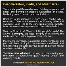 Marketing and media manipulation #zerosophy