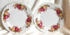 SET of 3 vintage c.1960s Wood & Sons Cottage Rose by BuyfromGroovy