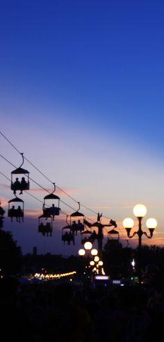 dusk at the iowa state fair