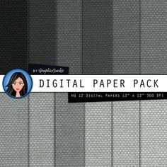 Linen digital paper Black & Grey Linen Digital by GraphicsJunkie, $4.80