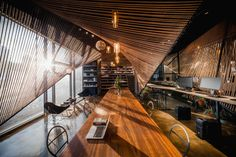 Office Space Designed by Usual Studio + Ten-Arch in the QSW Culture Center in Shanghai, China