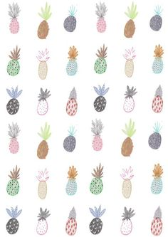 Colourful Indie Pineapple iPhone 5 Wallpaper
