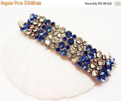 40% off Sapphire and Crystal Bracelet  Bling  by MyGemstoneDesigns