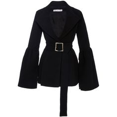Rejina Pyo     The Claire Bonded Seersucker Blazer ($700) ❤ liked on Polyvore featuring outerwear, jackets, blazers, black, blazer jacket, seersucker blazer and seersucker jacket