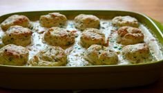 Pot-pie with black pepper chive biscuits on top. (Omit chicken and use veg or mushroom broth for veg.) | Joy the Baker