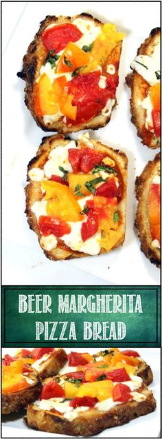 Pizza Bread... Beer Margherita Pizza Bread. For the crust used a slice ...