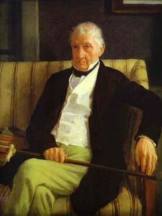 "Edgar Degas portrait painting of his grandfather""Hilaire Degas"""