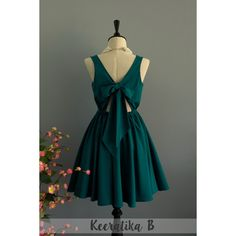 A Party v Lolita Dress Sweet Lolita Backless Dress Pine Green Dress... (€41) ❤ liked on Polyvore featuring dresses, dark olive, women's clothing, backless dress, silk cocktail dress, green party dress, night out dresses and going out dresses