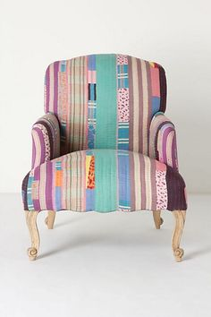 maybe one day I'll reupholster a chair in a quilt I make