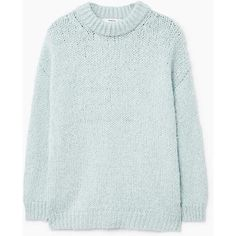 Chunky-Knit Sweater (1 120 UAH) via Polyvore featuring tops, sweaters, pull, round top, thick knit sweater, chunky cable knit sweater, long sleeve sweater и cable-knit sweater
