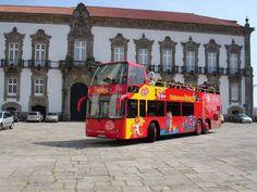 Passeio de ônibus turístico no Porto #viagem #lisboa #portugal