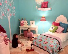 Tiffany Blue Aqua And Hot Pink Girls Bed Design, Pictures, Remodel, Decor and Ideas