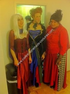 HAHA!!! Look closely and you will realize how funny this is. ...Homemade Hocus Pocus Unique Group Halloween Costume Idea: We watched the movie a thousand times and bought tons of fabric and started sewing! This Homemade Hocus Pocus Unique Group Halloween Costume Idea  took