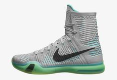 """The Nike Kobe 10 Elite release date is officially set, and the shoe officially unveiled. We offer first looks at the """"Team,"""" """"Elevate"""" and """"Rose Gold"""" . Nike Shoe Store, Buy Nike Shoes, Discount Nike Shoes, Nike Shoes For Sale, Nike Shoes Outlet, Basketball Shoes Kobe, Nike Factory Outlet, Kobe 10, Grey And White"""