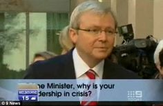 Mr Rudd avoided Miss Bourke's question about his leadership being 'in crisis' back in 2010.