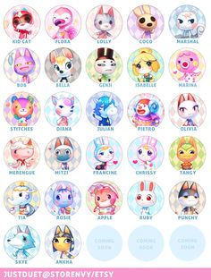 Cute pictures of the Animal Crossing New Leaf villagers! Animal Crossing 3ds, Animal Crossing Villagers, Acnl Villagers, Pixel Art Kawaii, Acnl Art, Game Character, Character Design, Deviantart, Pokemon