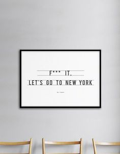 Fancy - Let's Go To New York Poster