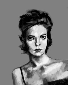 A little portrait study done on my evening commute